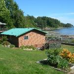 cottage #7 water front view across Malaspina Straight