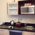 kitchenette in room 216