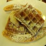 Waffle & Banana something -dessert