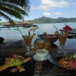 Lunch from beach bar