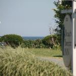View of beach from the lawn