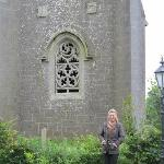 Friend in front of the Folly.