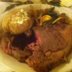 """Disgusting! Not only is this badly cooked """"Prime Rib"""", but we ordered 8 oz & were given/charged"""