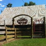 A barn along the entrance