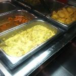 Freshly prepared vegetables