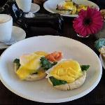 Eggs benedict - one of the breakfast options