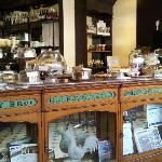 the counter at Rumsey's