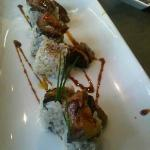 unagi sushi with foie gras