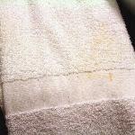 Dirty stained towel