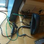 This the wire clutter created created by a cisco IP phone. Cisco are one of the world's greatest