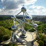Atomium and city landscape.