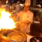 Xier Chef cooking my food in the wok