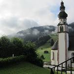 Udsigt fra værelser med udsigt over dalen og kirken