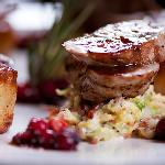 porkloin with cranberry sauce