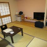 inside spacious Sakura room