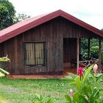 Cabins with patio facing Rio Fortuna with View Of Arenal Volcano