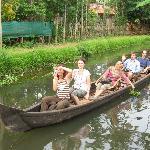 Narrow canal cruise