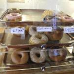 This was the bagel and donut display. The donuts went more quickly.