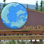 The Arctic Circle on Dalton Highway in Alaska