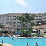 Hotel from pool area