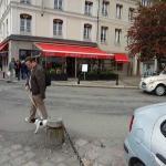 Walking Past Front of Restaurant