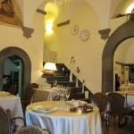il ristorante si trova in in bellissimo palazzo di 15imo secolo