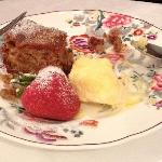 Apple Cake, warmed with cream