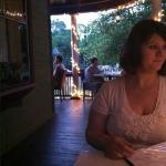 Porch seating at chocolate and vines