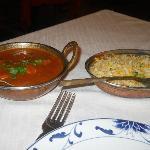 Pollo al curry e riso alle verdure