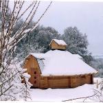 Finnhütte im Winter