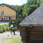 Haus mit Finnhütte