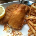 Crispy, flaky, not greasy fish & chips