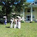 Jane Austen weekend: back lawn
