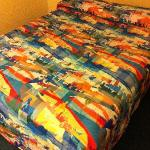 Colorful bedspread