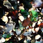 layers of sea glass