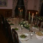 Formal dinner in the dining room