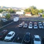 View of secured back parking lot from 4th floor
