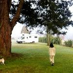 Returning to the warmth of the motorhome