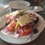 REAL Greek salad - big veggies and oil!! awesome!!