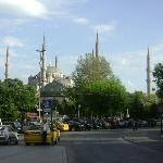 5 blocks from the hotel, Blue Mosque