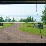 Lake view from middle window - Unit 4 (the cord is to the TV aerial)