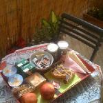 Breakfast in the bedroom on the balcony