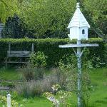 Birdhouse near the pond