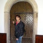 The beautiful original oak door