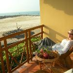 You can relax on the room balcony during the day or even better in the evening