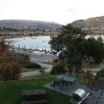 view of lake wanaka and centre from the hostel