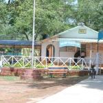 Outside front view having railways reservation counter.