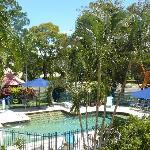 Crystal clear Solar heated Pool