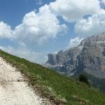 On the track from Passo Sella
