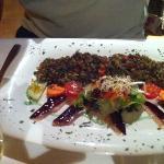 lenticchie e prosciutto d'oca